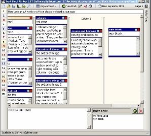 Text Block Writer- Free writer's program